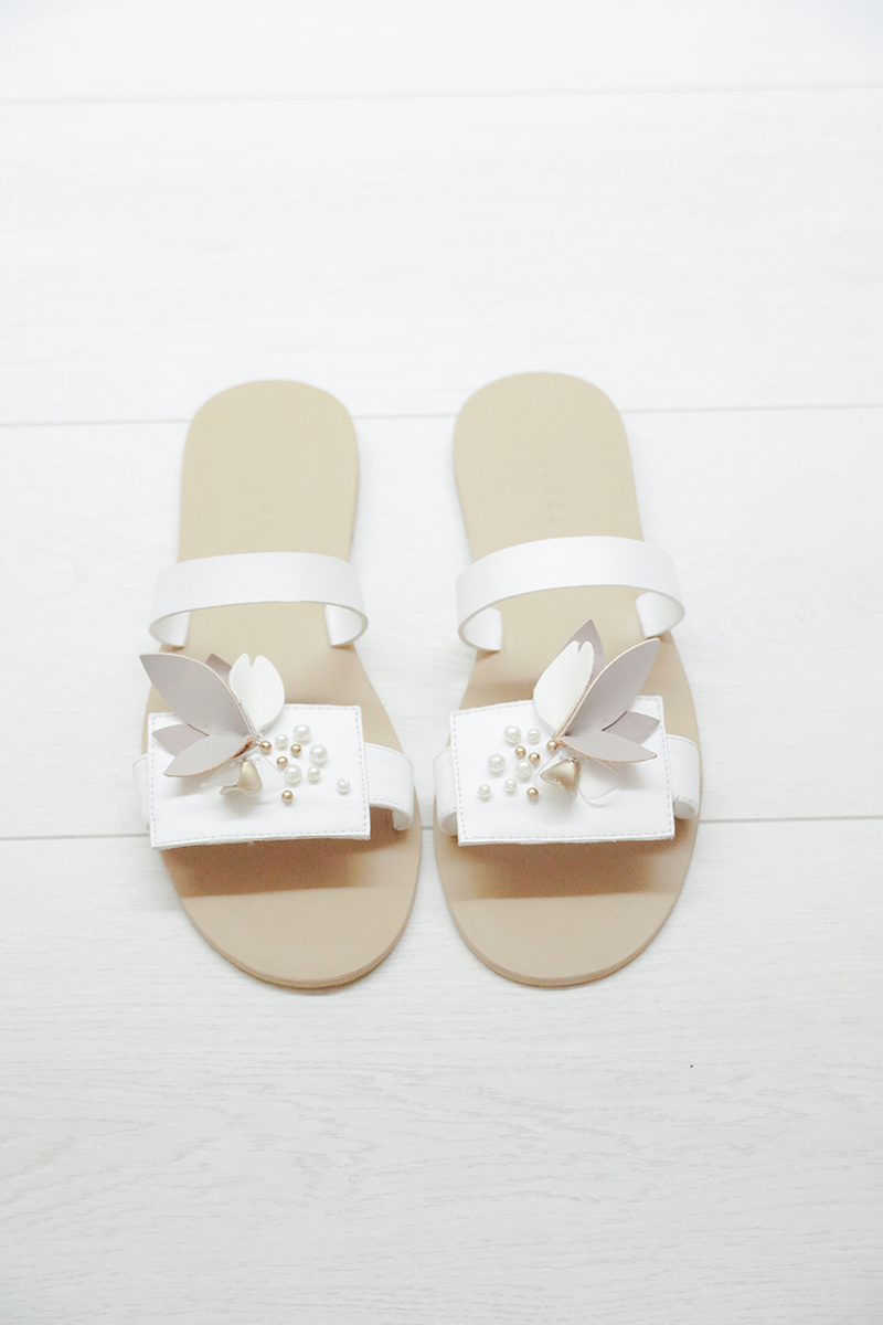 [Pre-Order Batch 2] Nora White Sandals